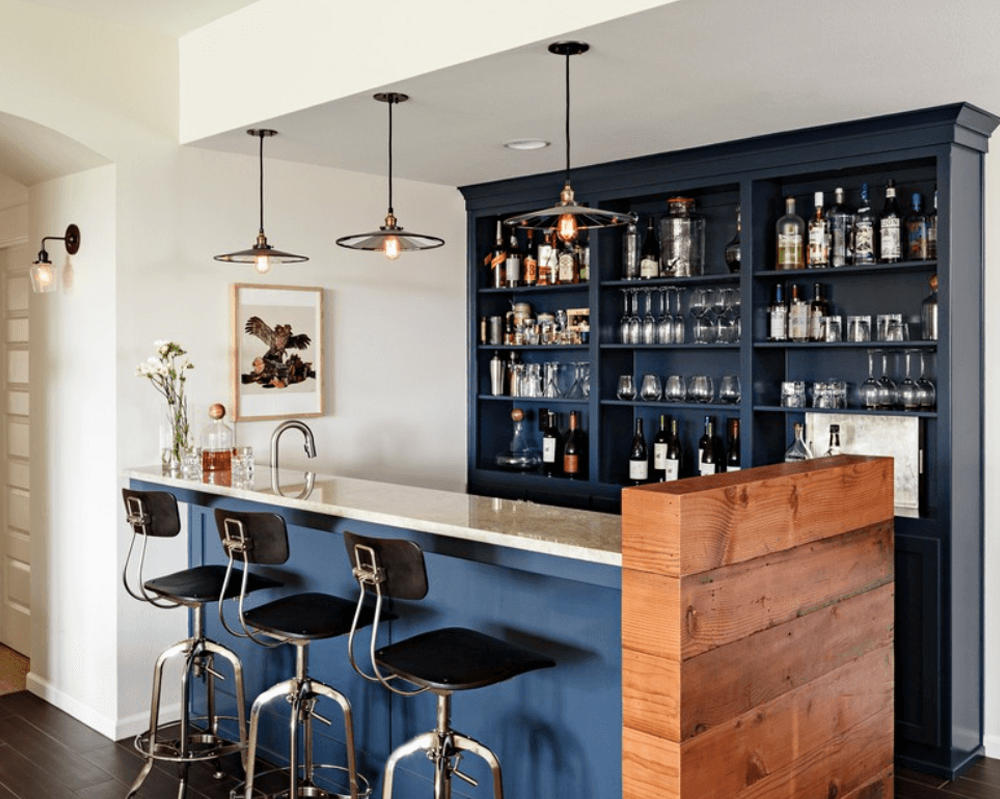 Bar em casa veja ideias simples e sofisticadas para for Modelos de barras de bar para casas